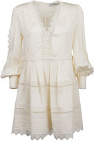 Self-Portrait Self Portrait Mini Abito Cream Lace Trim