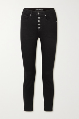 Veronica Beard Debbie Cropped High-rise Skinny Jeans - Black