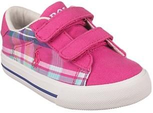 Polo Ralph Lauren Baby Girl's Little Girl's Plaid Polo Pony Sneakers