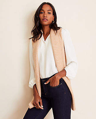 Ann Taylor Ribbed Sweater Vest