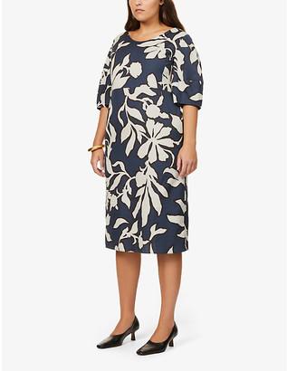 S Max Mara Didone graphic floral-print cotton midi dress