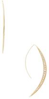 Mizuki 14K Yellow Gold & 1.16 Total Ct. Diamond Crescent icicle Earrings