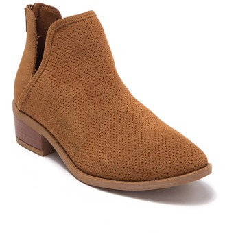 Steve Madden Laramie Perforated Suede Bootie