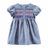 Osh Kosh Oshkosh Short Sleeve Cap Sleeve Babydoll Dress - Baby Girls