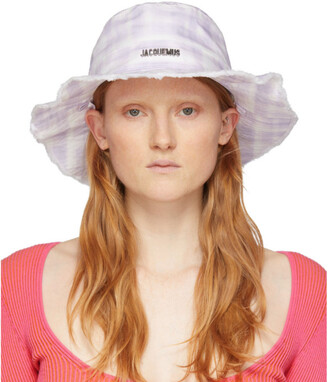 Jacquemus Purple and White Le Bob Artichaut Bucket Hat