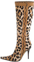 Casadei Printed Knee-High Boots