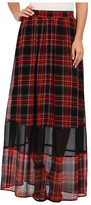 BCBGeneration Plaid Maxi Skirt VSU3F059