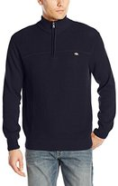 Dickies Men's Buster Solid Shaker-Stitch Mock-Neck Sweater