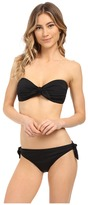 Michael Kors Drapey Jersey Tie Front Bandeau w/ Cups and Side Tie Bottoms