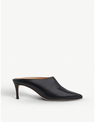 LK Bennett Hettie leather heeled mules