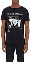"Enfants Riches Deprimes Men's ""Heute Disco""-Print Cotton T-Shirt-BLACK"