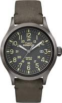 Timex Men's TW4B01700GP Expedition Dial Brown Leather Strap Watch