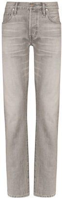 Tom Ford Mid-Rise Stonewashed Jeans