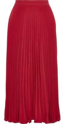 Co Pleated Crepe Midi Skirt