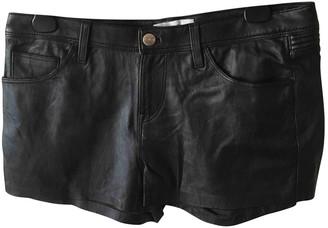 IRO Black Leather Shorts for Women