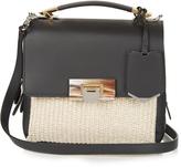 Balenciaga Le Dix Soft Mini leather and raffia bag