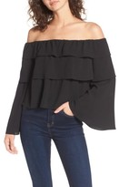Women's Storee Ruffle Off The Shoulder Top