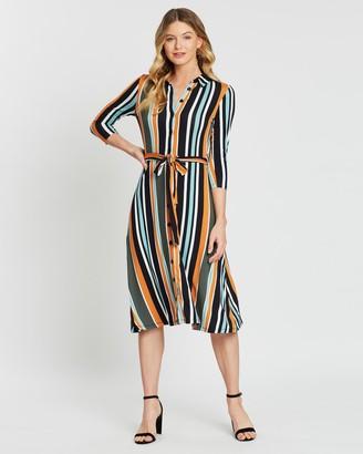 Dorothy Perkins Stripe Midi Shirt Dress