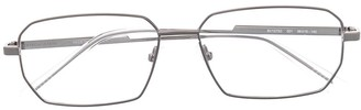 Bottega Veneta Rectangle-Frame Clear Glasses