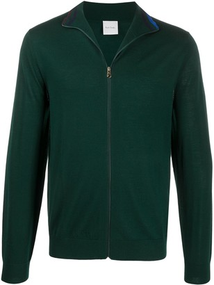 Paul Smith Zip-Up Merino Wool Cardigan