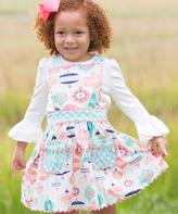 Mint Gingham Festive Jordan Pocket Jumper - Toddler & Girls