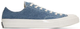 Converse Blue Denim Chuck 70 Low Sneakers