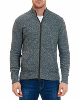 Robert Graham Gianluca Merino Wool Full-Zip Sweater