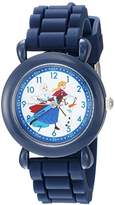 Disney Boy's 'Frozen Elsa' Quartz Plastic and Silicone Casual Watch