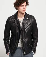 Superdry Hero Leather Biker Jacket