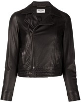 Saint Laurent off-centre zipped biker jacket