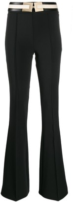 Elisabetta Franchi Flared Belted Trousers