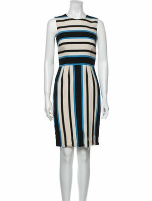 Dolce & Gabbana Silk Knee-Length Dress Blue