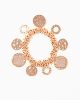 Charming charlie Hammered Discs Stretch Bracelet