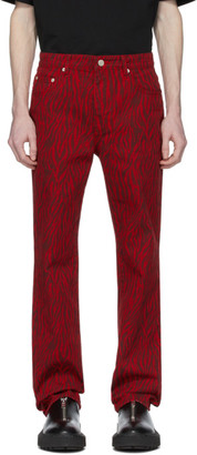 we11done Red Zebra Jeans
