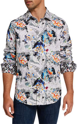 Robert Graham Men's Smeed Patterned Sport Shirt