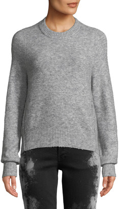 3.1 Phillip Lim Crewneck High-Low Pullover Sweater