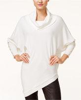 XOXO Juniors' Asymmetrical Dolman-Sleeve Sweater