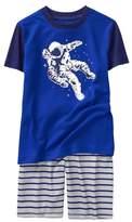 Crazy 8 Astronaut Shortie 2-Piece Pajama Set