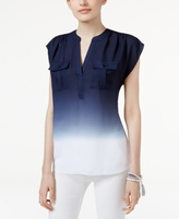 INC International Concepts Petite Dip-Dyed Utility Top, Created for Macy's