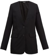 Ann Demeulemeester Collarless Single-breasted Wool-twill Blazer - Womens - Black