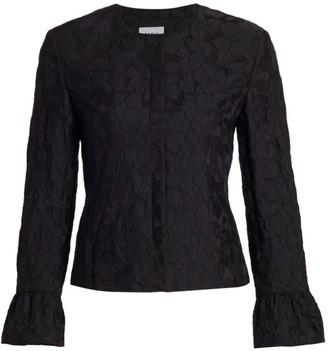 Akris Punto Magnolia Cloque Bell-Sleeve Jacket