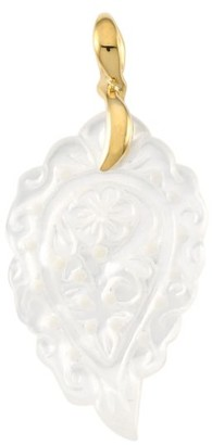 Tamara Comolli India 18K Yellow Gold & White Mother-Of-Pearl Small Leaf Pendant