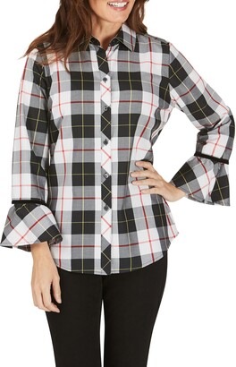 Foxcroft Brinkley Sinclair Tartan Wrinkle-Free Shirt