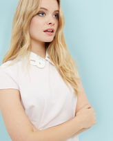 Ted Baker Embroidered collared top