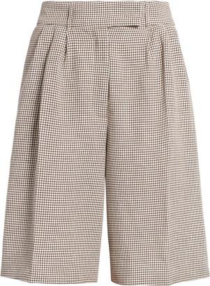 REMAIN Birger Christensen Kit Gingham Pleated Shorts