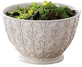Mud Pie France Collection Fleur de Lis Terracotta Serving Bowl