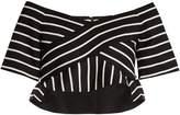 Proenza Schouler Striped cotton-blend cropped top