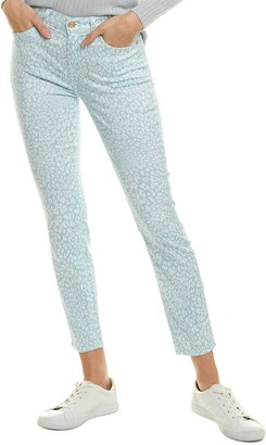 Seven For All Mankind 7 For All Mankind Gwenevere Wave Leopard Sateen Ankle Skinny Leg Jean