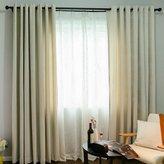 Yuan Futian Wavy jaquard double stripe Blakout Drapes 2 Piee