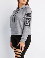 Charlotte Russe Plus Size West Coast Cropped Hoodie